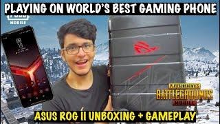 Emulator Wala Noob Plays PUBG Mobile on the World's Best Gaming Phone (Asus ROG 2 Unboxing+Game