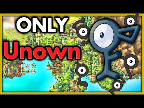 Can I Beat Pokemon Gold With Only Unown? 🔴 Pokemon Challenges ► NO ITEMS IN BATTLE