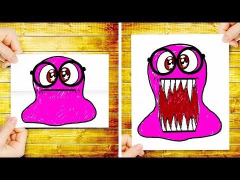 Super Slime Sam dibuja un PEZ para su INCREIBLE FIESTA