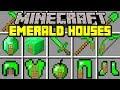 Minecraft EMERALD HOUSE MOD! | LIVE INSIDE EMERALD BLOCK, HOUSE, SWORD, & MORE!! | Modded Mini-Game