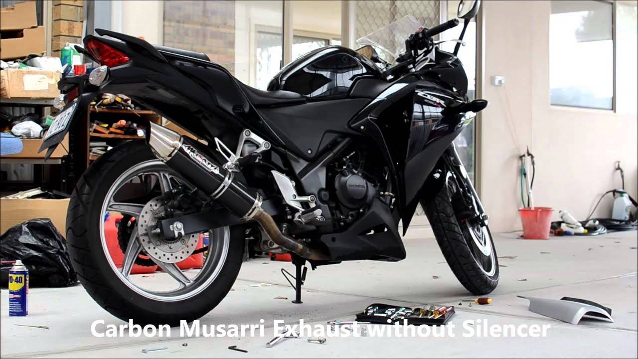 2011 2013 Honda Cbr250r Carbon Musarri Exhaust Youtube
