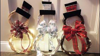 DIY Dollar Tree Snowman Christmas Wreath | Christmas Crafts