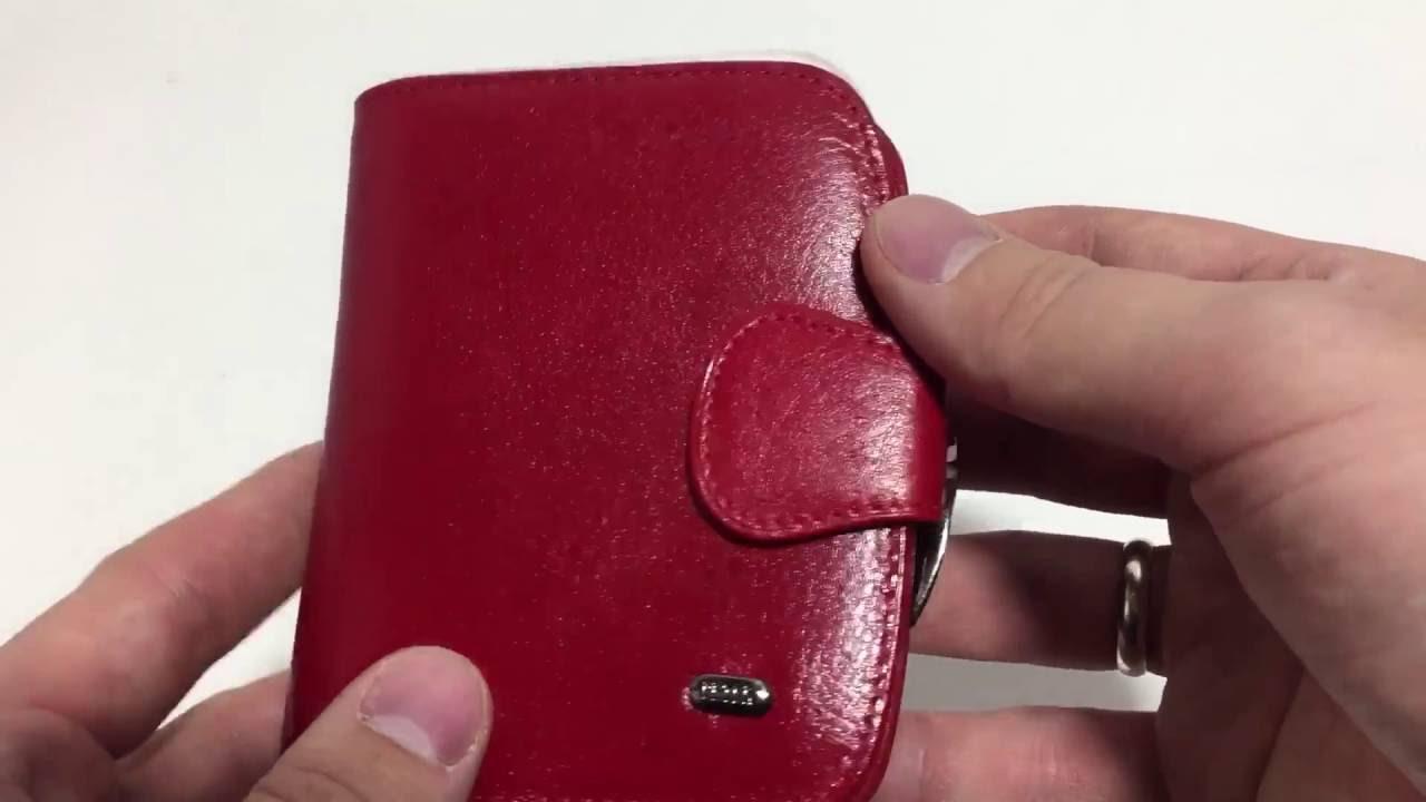 b80df8a5e7bb Женский кошелек кожаный красный Petek 21259 -Mini - YouTube