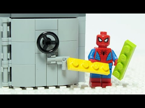 Lego Spiderman Brick Building Vault Animation For Kids