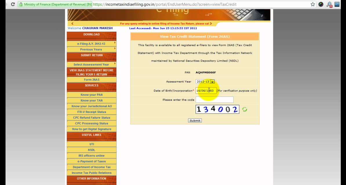 How to view Form 26AS Online ?