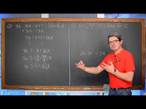 Literal Equations Two or More Variables 4 Examples