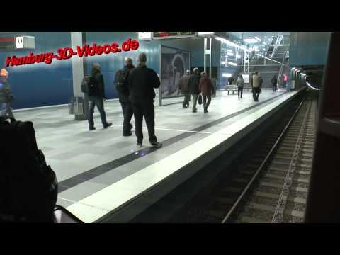 U-Bahn Fahrt U4 Hamburg Hafencity Universität über Überseequartier nach Jungfernstieg (HD / 2D)