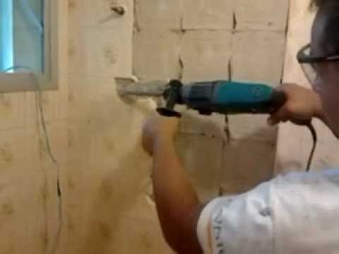 Remo o de azulejo com martelete profissional fabio123 - Tirar paredes en un piso ...