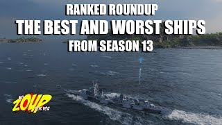 World of Warships Best and Worst Ships of Ranked Season 13