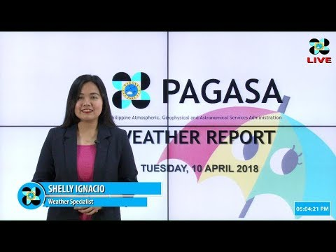 Public Weather Forecast Issued at 4:00 PM April 10, 2018