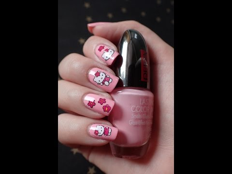 Nail Art | Hello Kitty water stickers