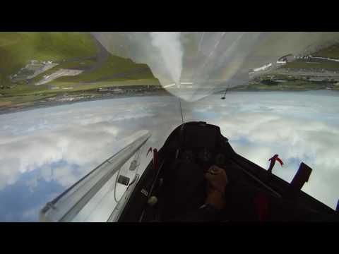 Swift Glider Aerobatics on Aerotow - Culdrose Airday 2010 [PART 1]