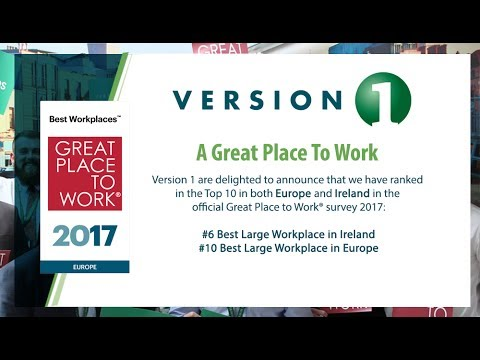 Version 1 - Top 10 in Great Place to Work Europe