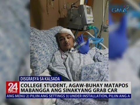 College student, agaw-buhay matapos mabangga ang sinakyang Grab car