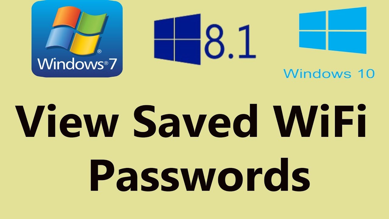 How to View Saved WiFi Passwords on Windows