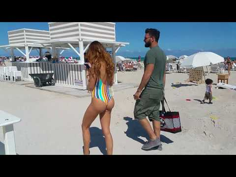 French Model Nabilla Benattia Flaunts Her Curves At The Beach In Miami Beach !!