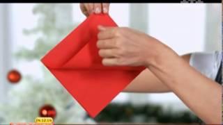 як зробити прикраси на стіл з серветок