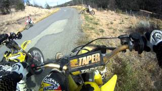 Blowing Up a 2 Stroke Dirtbike