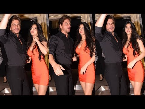 Thumbnail: Shahrukh Khan With Stunning Daughter Suhana At Gauri Khan's Restaurant Launch