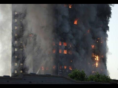 Nagrania z pożaru wieżowca w Londynie - Londyn płonie!!!