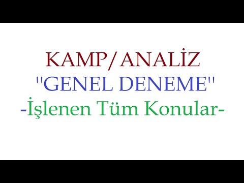Genel Deneme - Kamp Analiz / Ali Hoca