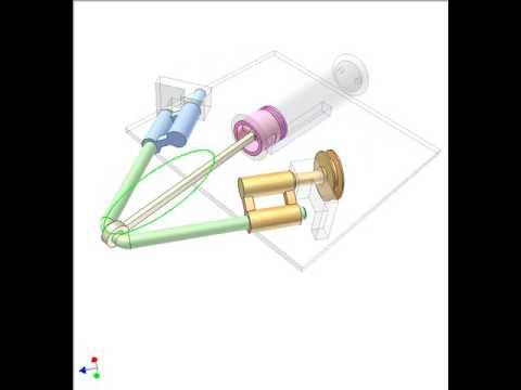 how to make scotch yoke mechanism solidworks