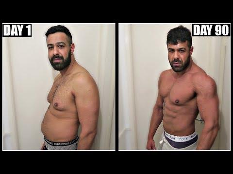 EPIC 90 DAY BODY TRANSFORMATION FAT TO SHREDDED