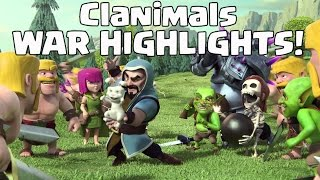 LOGOWIPE & GOWIWI 2.0! Win # 86 CLANIMALS WAR HIGHLIGHTS CLASH OF CLANS