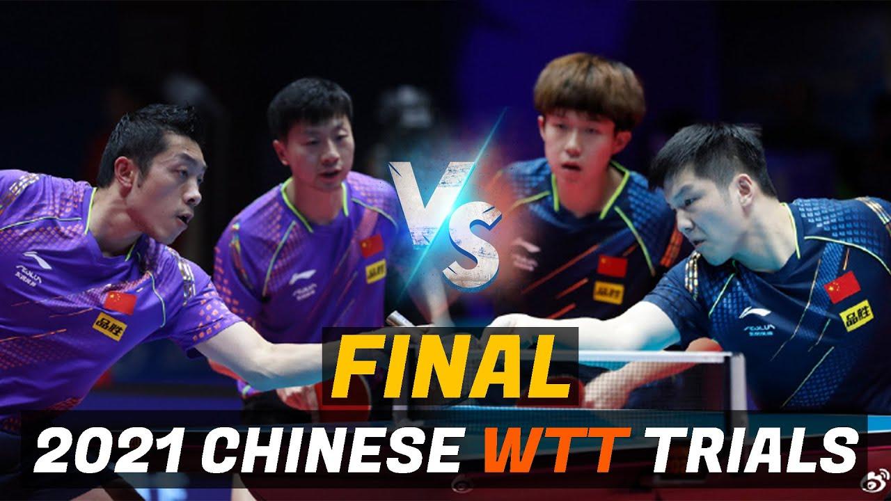 Download Ma Long/Xu Xin vs Fan Zhendong/Wang Chuqin   2021 Chinese WTT Trials and Olympic Simulation (Final)