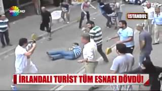 Fight in the streets of Istanbul Turkey