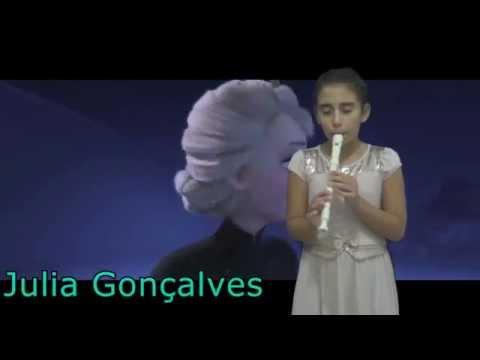 Julia Gonçalves ( Let It Go, Frozen - Flauta Doce )