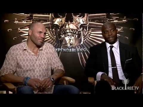The Expendables 2 Terry Crews / Randy Couture Interview