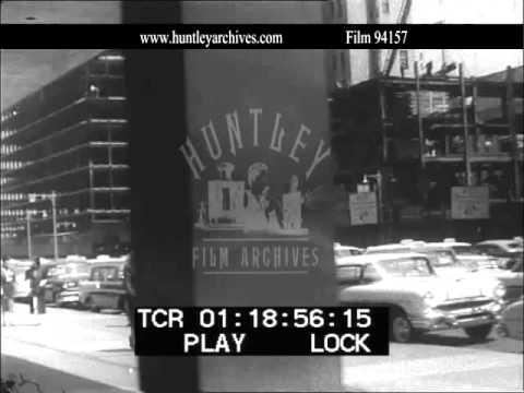 Park Avenue, New York Construction 1950's.  Archive film 94157