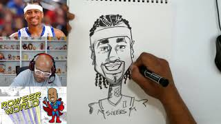 How To Draw Caricatures | Allen Iverson