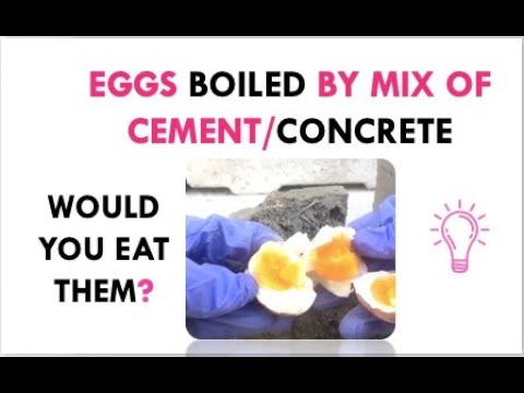 Making Hard Boiled Eggs With Concrete (SEE For Yourself!)
