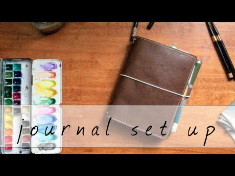 Planner Set up | Travelers Notebook | Journal | Art Journal