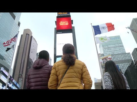 China's Spring Festival Gala Video Shown at NYC Times Square