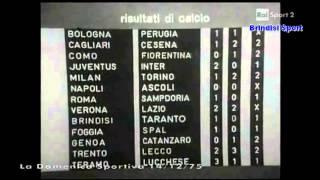 La Domenica Sportiva - 14 Dicembre 1975  (Classifica Serie B - Brindisi Sport)