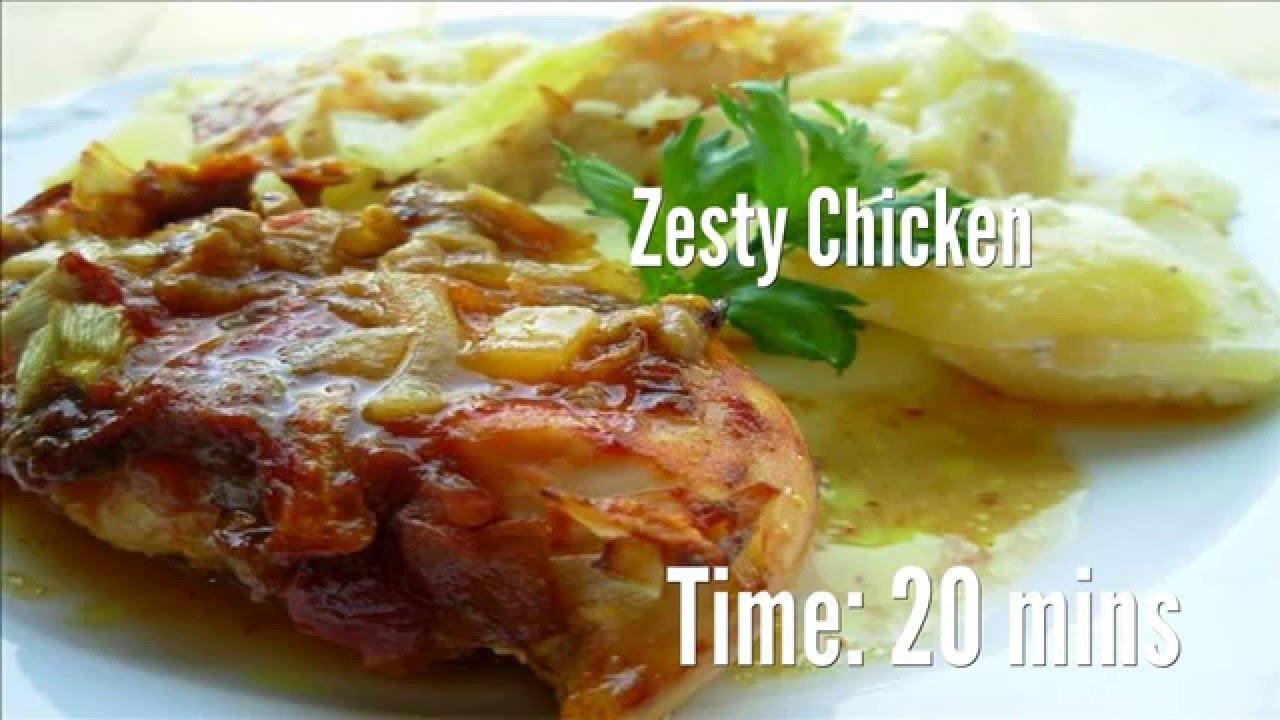 Recipe for zesty chicken
