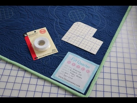 How to Attach a Quilt Label by Fat Quarter Shop and Me & My Sister Designs using Stitch Witchery