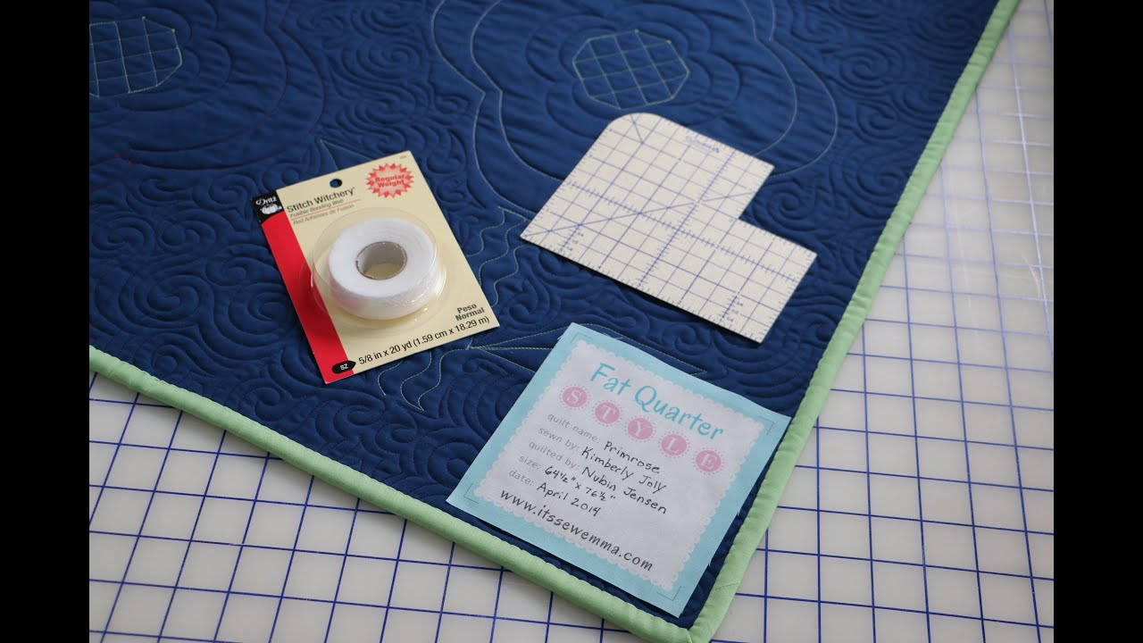 How To Attach A Quilt Label By Fat Quarter Shop And Me My Sister Designs Using Stitch Witchery