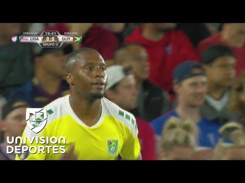 Guyana pone a temblar la meta de Steffen con disparo de Harriott