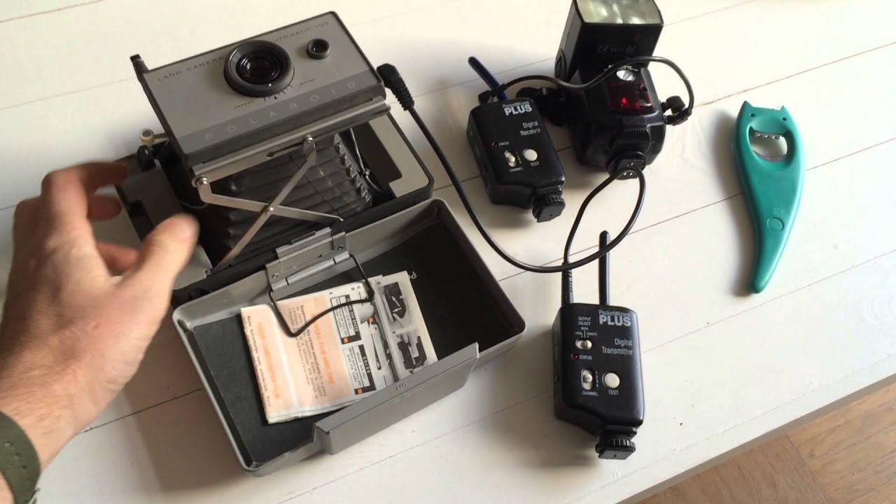 polaroid automatic 103 land camera off camera flash dry. Black Bedroom Furniture Sets. Home Design Ideas