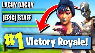 WINNING A Game Of FORTNITE With EPIC STAFF!