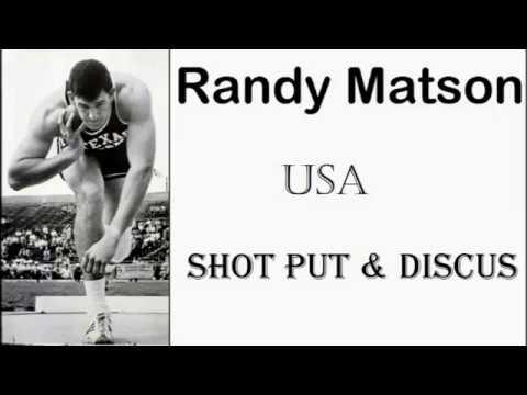 Randy Matson USA (Shot put & discus) 1967