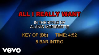 Alanis Morissette - All I Really Want (Karaoke)
