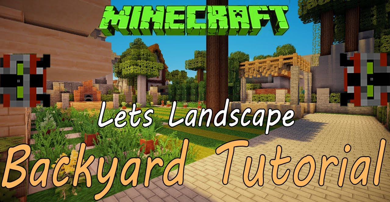 Minecraft Tutorial | Landscaping: Ep. 1 - YouTube on Backyard Ideas For Minecraft id=34037