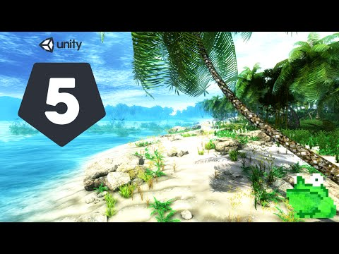 [Unity 5] Speed Level Design - Tropical Island   Mr. Frog Games