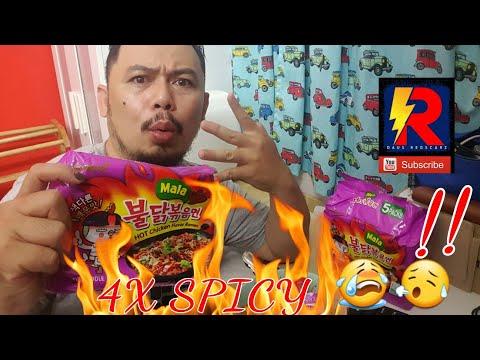 4X Spicy Ramen Mala Challenge Malaysia | Samyang