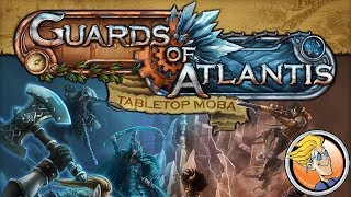 Guards of Atlantis: Tabletop MOBA — game preview at SPIEL '17